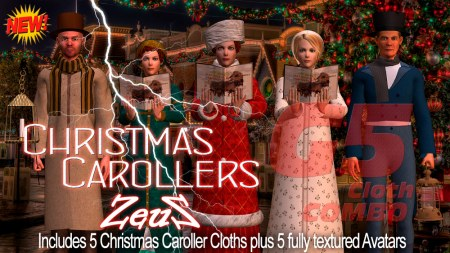 iClone Character Pack - G5 Cloth Marvelous Christmas Carollers COMBO