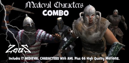 iClone Combo Pack - Medieval Characters