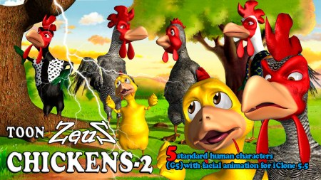 iClone Character Pack - Toon Chickens 2