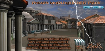 iClone Props Pack - Roman City Worldbuilder Pack