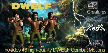 iClone Combo Pack - DWELF Animated Fantasy Character