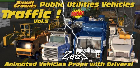 iClone Props Pack - Small Crowds Traffic Vol.5 Public Utilities