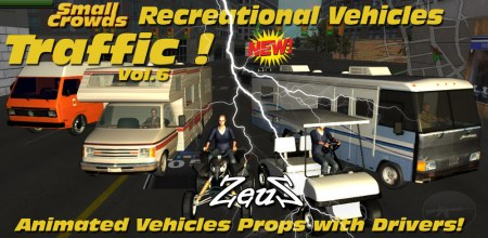 iClone Props Pack - Small Crowds Traffic Vol.6 Recreational Vehicle