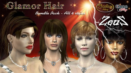 iClone Accessories Pack - Glamor Hair Bundle