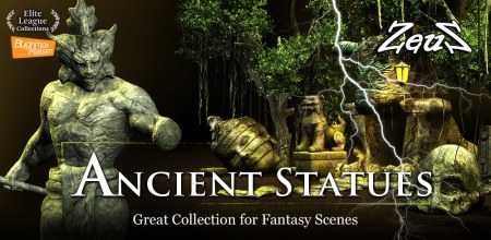 iClone Props Pack - Ancient Statues
