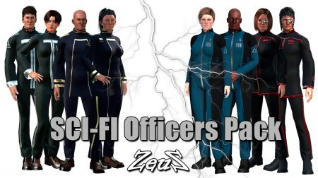 SCI-FI Officers Pack